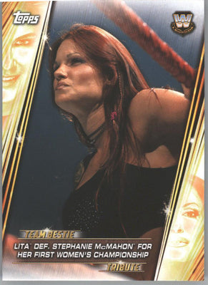 2019 Topps WWE Women's Division Lita Def Stephanie McMahon TB-13 wrestling card