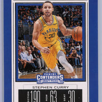 Stephen Curry Season Ticket card No. 48 2019 Panini Contenders Draft Picks