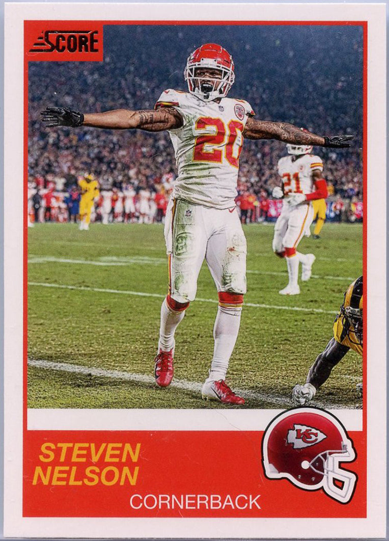Steven Nelson 2019 Score Football #3 Kansas City Chiefs card