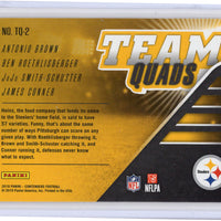 2018 Panini Contenders Team Quads Pittsburgh Steeler No. TQ-2