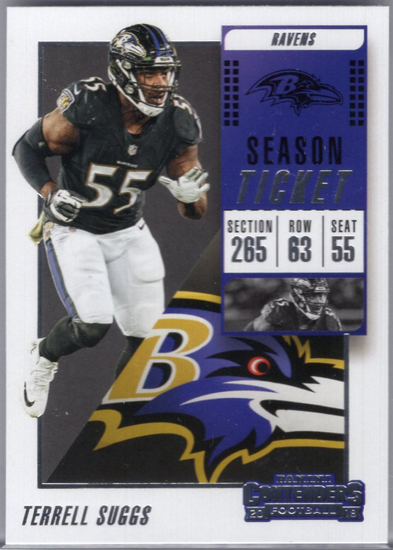 Terrell Suggs 2018 Panini Contenders #92 Football Card