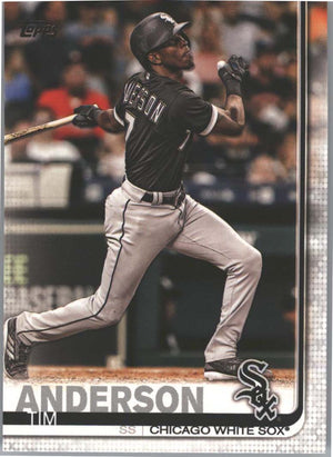 Tim Anderson Card #80 2019 Topps Series 1 Baseball Chicago White Sox SS