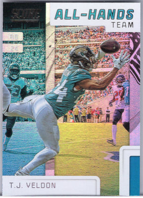 T.J. Yeldon 2019 Score Football All-Hands Team AHT-6 Jacksonville Jaguars