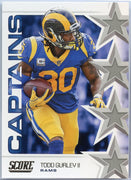 Todd Gurley 2019 Score Football Captains insert card