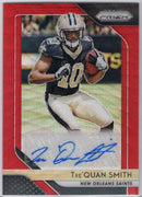 Tre'Quan Smith Auto 187/199 2018 Panini Prizm Football RA-TQS Saints