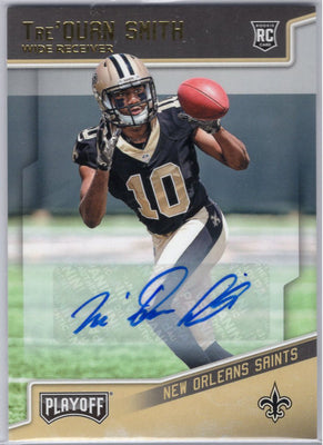 Tre'Quan Smith Auto RC 2018 Panini Playoff Football #227 New Orleans Saints