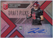 Trey Quinn Autograph Rookie Card 2018 Elite Draft Picks No. 264