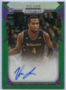 Vic Law autograph rookie card #127 2019 Prizm Draft Picks