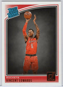 Vincent Edwards 2018-19 Panini Donruss Basketball Rated Rookie No. 165
