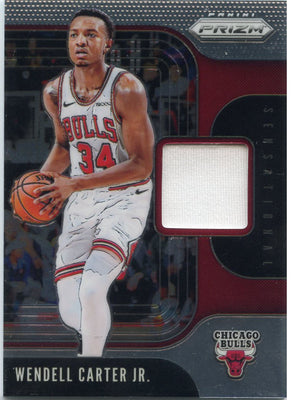 Wendell Carter Jr Game Worn Patch SS-WCJ 2019-20 Panini Prizm Basketball Chicago Bulls