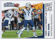 Will Grier 2019 Panini Contenders Draft Picks Draft Class #4 card