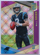 Will Grier rookie card 27/99 #111 Panini Donruss Elite Football 2019 Panthers