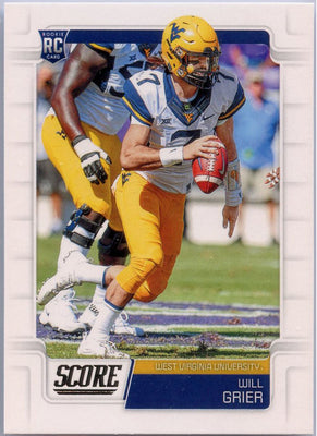 Will Grier rookie card 2019 Score Football #333