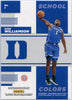 2019 Panini Contenders Draft Picks School Colors No. 1 Zion Williamson rookie card