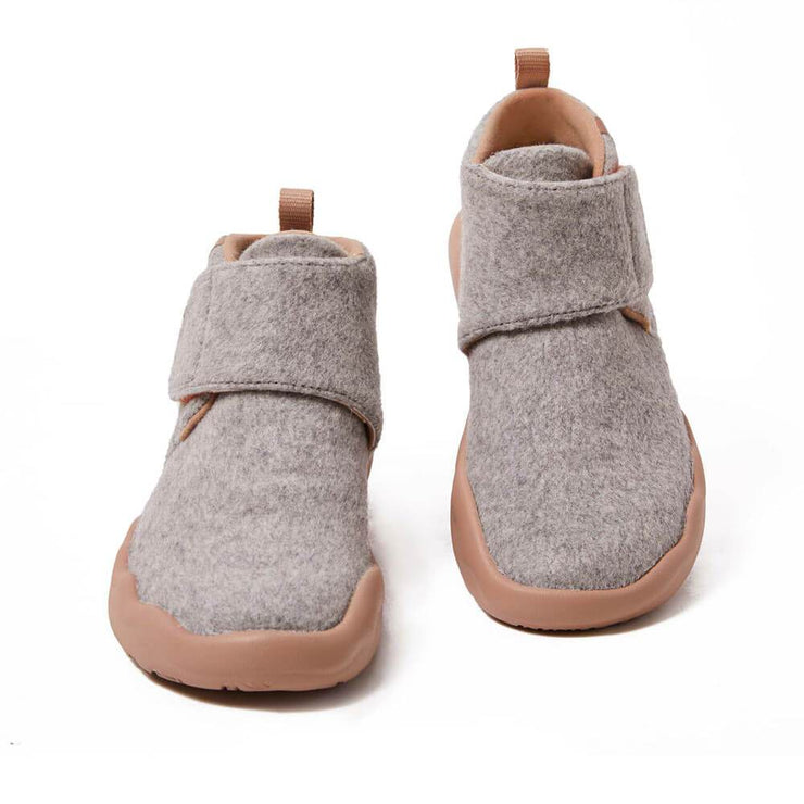 UIN Footwear Kid Bilbao Light Grey Wool Boots Kid Canvas loafers