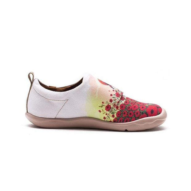 UIN Footwear Kid Flower Field Canvas loafers