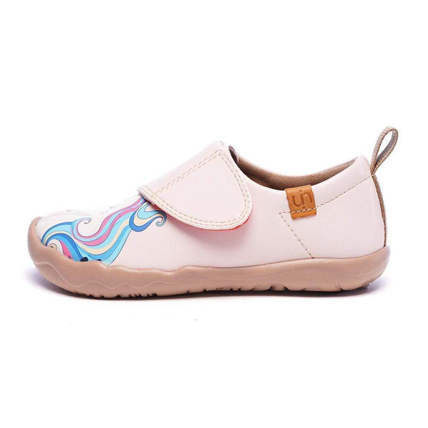 UIN Footwear Kid Girl and Unicorn Microfiber Leather Shoes Canvas loafers
