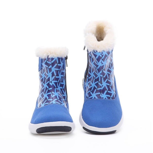 UIN Footwear Kid Rotterdam Boots Blue Kids Canvas loafers