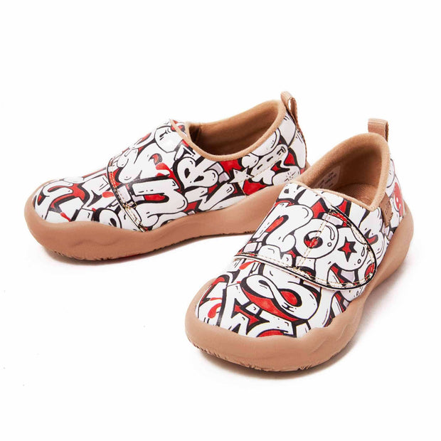 UIN Footwear Kid Twisted ABC Kid Canvas loafers