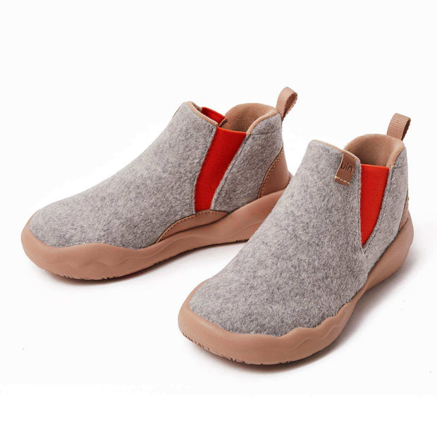 UIN Footwear Men Granada Light Grey Wool Boots Men Canvas loafers