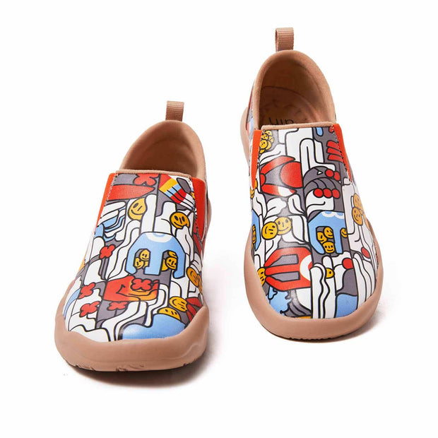 UIN Footwear Men (Pre-sale) Claw Your Smile Men Canvas loafers