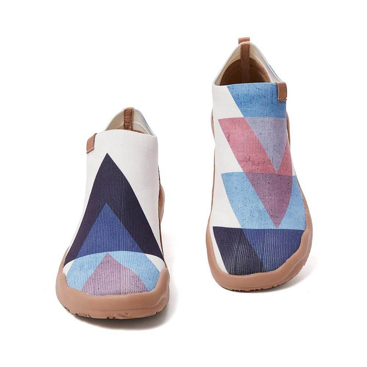 UIN Footwear Women Bare Triangle-US Local Delivery Canvas loafers