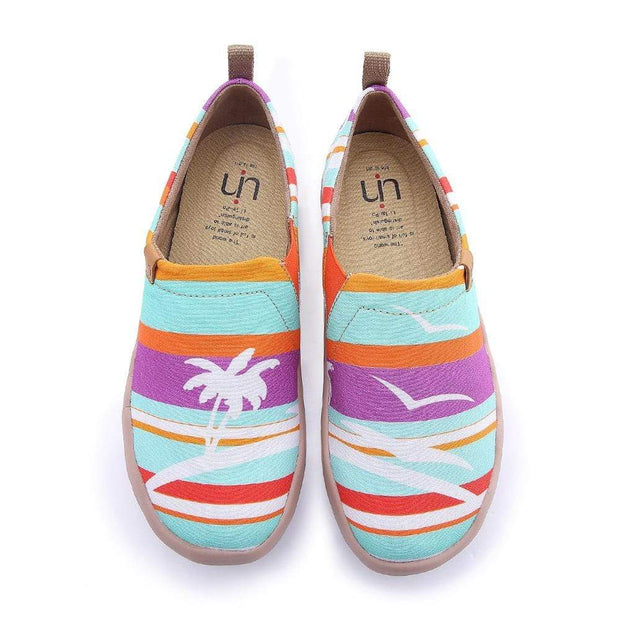 UIN Footwear Women Camo Colorful Painted Canvas Women Shoes Canvas loafers