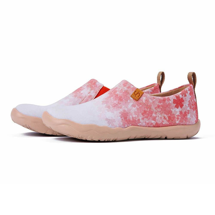 UIN Footwear Women Cherry Blossom Canvas loafers