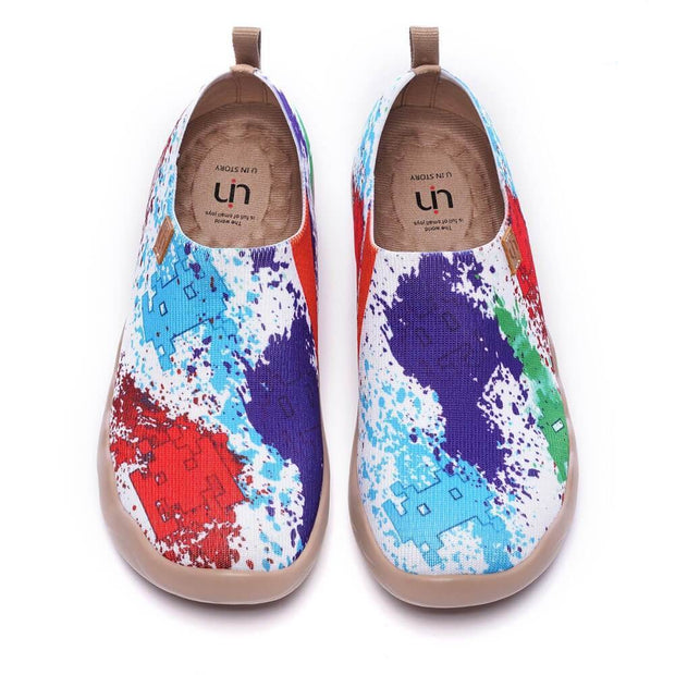 UIN Footwear Women Colorful Universe Kid Canvas loafers
