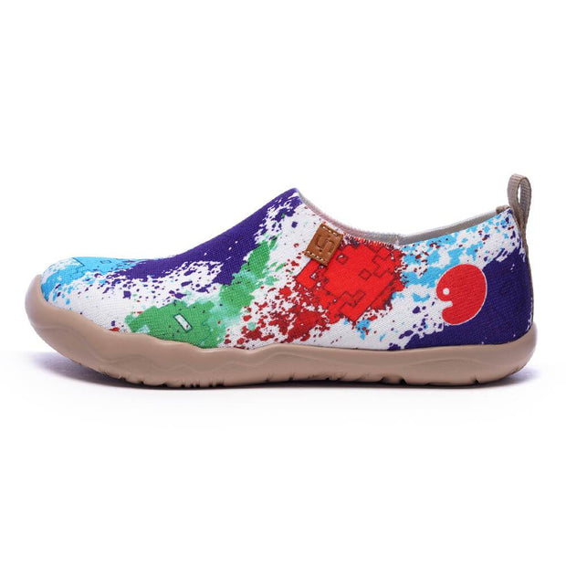 UIN Footwear Women Colorful Universe Men Canvas loafers