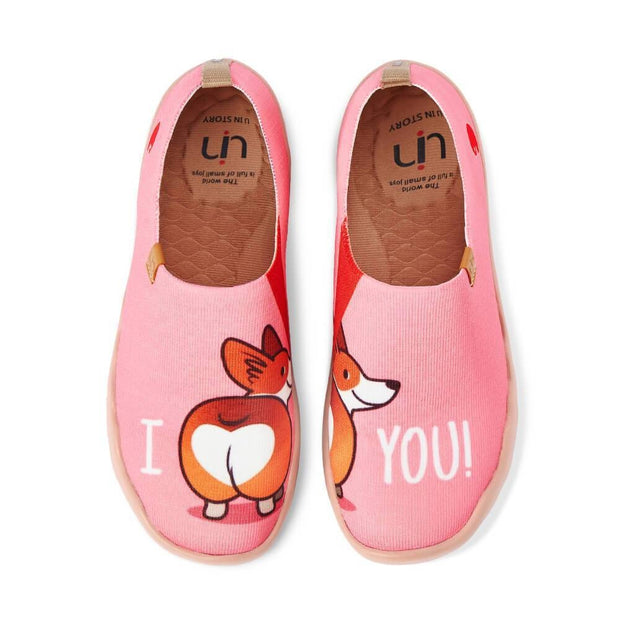 UIN Footwear Women Corgi's Bubble Butt Canvas loafers
