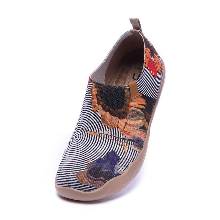 UIN Footwear Women DREAM BIG Women Art Painted Knitted Shoes (Pre-sale) Canvas loafers