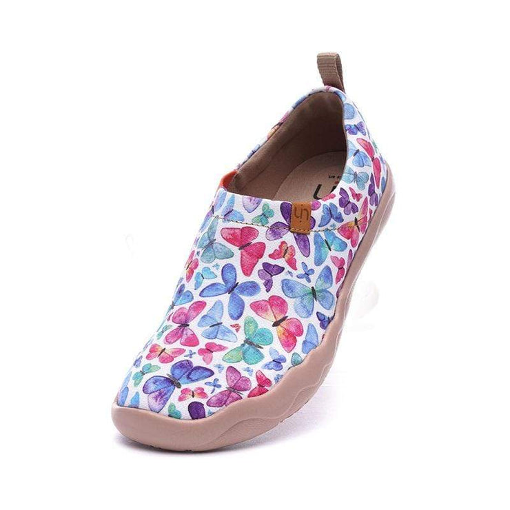 UIN Footwear Women Glittering Variegation Canvas loafers