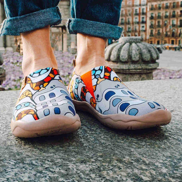 UIN Footwear Women LA PEDRERA Women Canvas Art Painted Shoes Canvas loafers