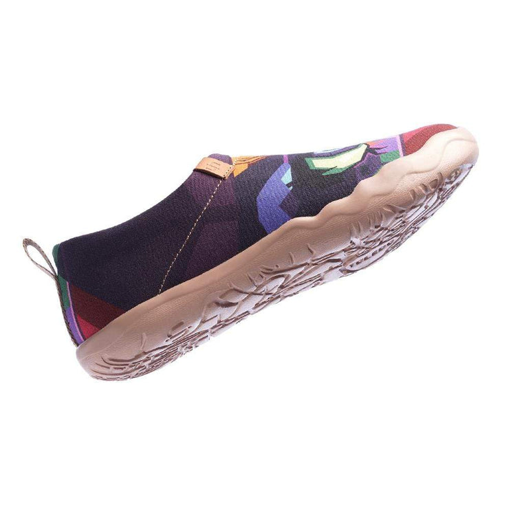 UIN Footwear Women Looking at You Multicolored Pop Art Female Slip-ons Canvas loafers