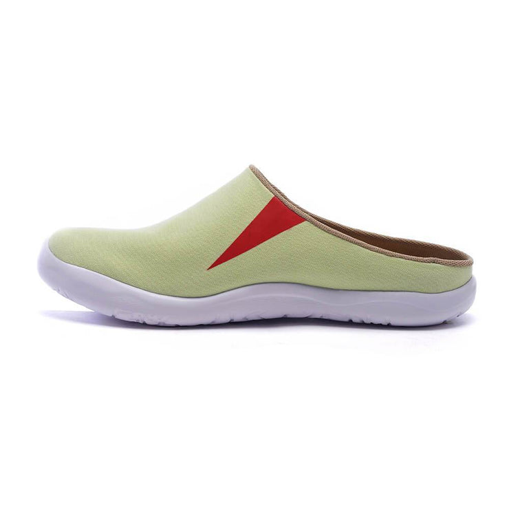 UIN Footwear Women Marbella Light Green Slipper-US Local Delivery Canvas loafers