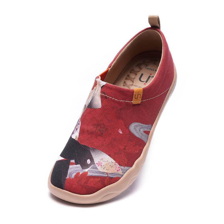 UIN Footwear Women -Nippon Beauty- Women Painted Fashion Travel Shoes Canvas loafers