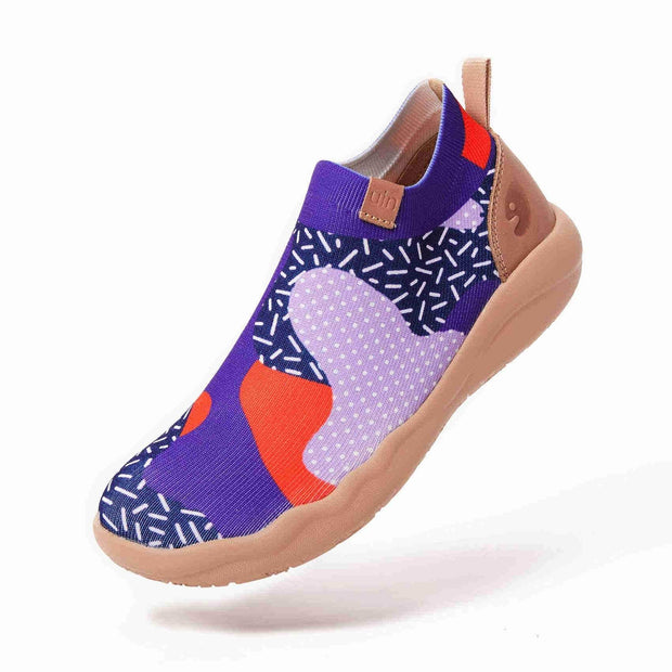 UIN Footwear Women (Pre-sale) Endless Purple Pursuit Canvas loafers