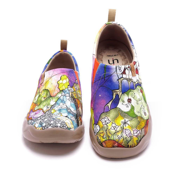 UIN Footwear Women Princess's Garden-US Local Delivery Canvas loafers