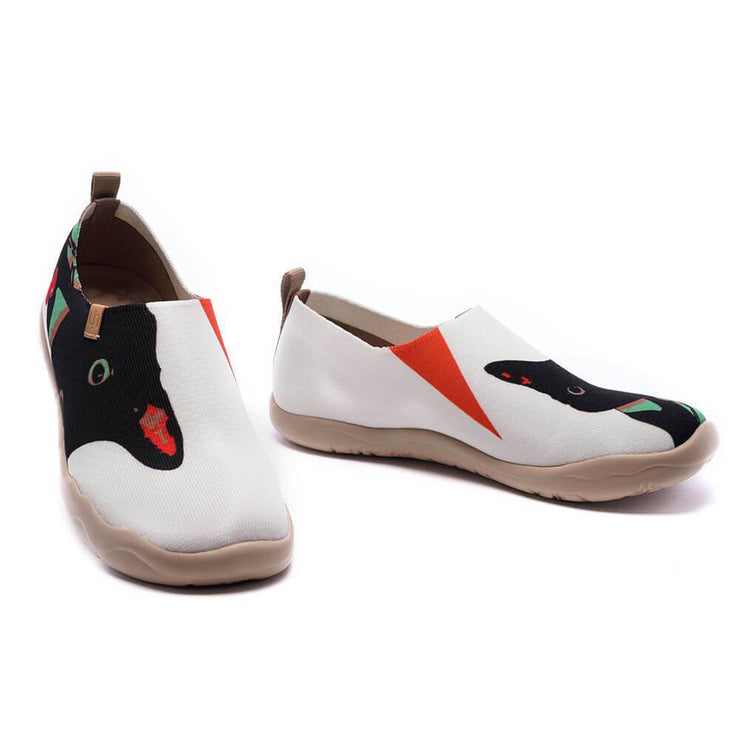 UIN Footwear Women Right Meow-US Local Delivery Canvas loafers