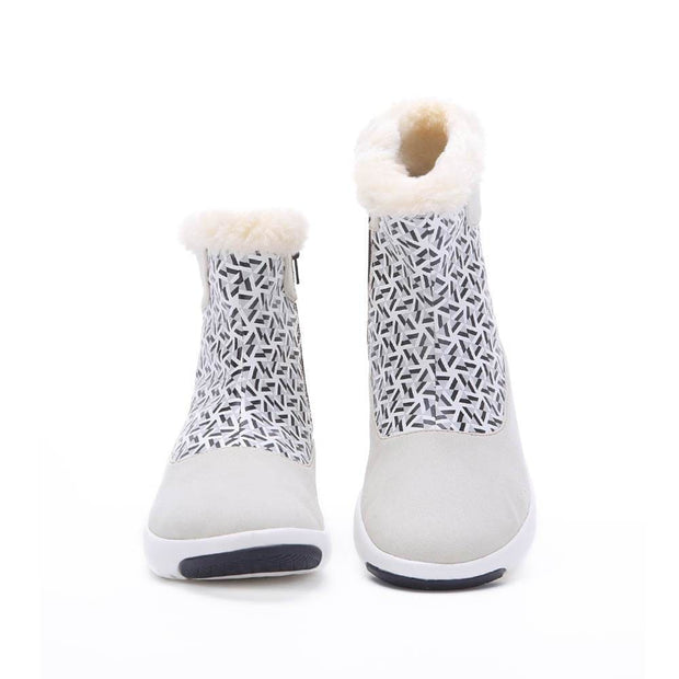 UIN Footwear Women Rotterdam Boots White Kids Canvas loafers