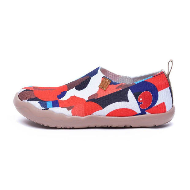 UIN Footwear Women STREET CANVAS Women Art Painted Knitted Shoes (Pre-sale) Canvas loafers