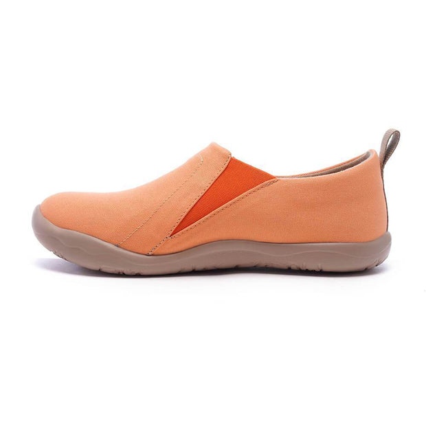 UIN Footwear Women Toledo Orange Canvas loafers