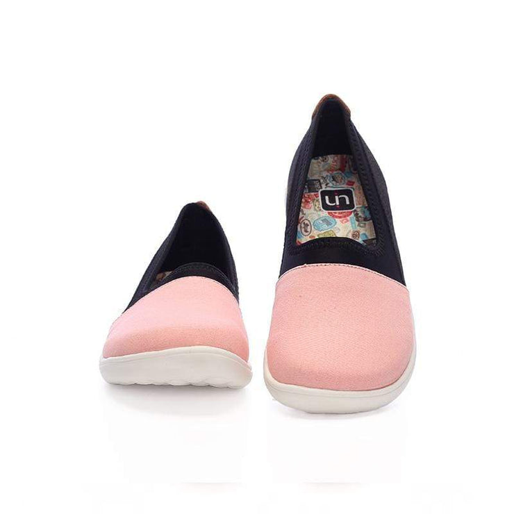 UIN Footwear Women Valencia Pink Canvas loafers