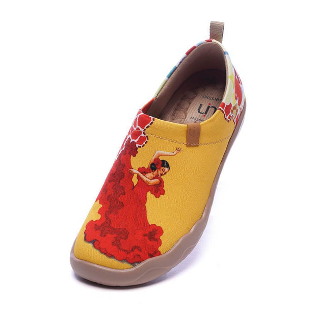 UIN Footwear Women VIVA LA VIDA Women Art Painted Slip-on Shoes Canvas loafers
