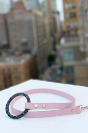 Shaya pets Susan blush pink dog leash. Made in Italy.