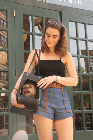 Dog carrier made for the city dog and their stylish human.