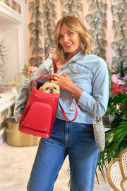 Tezza with the Ruby Pet Carrier from Shaya Pets.