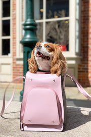 Pink Luxury Pet Carrier for Small Dogs.