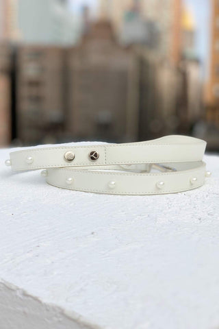 Pearl studded leash for dogs. Perfect leash for weddings by Shaya Pets.